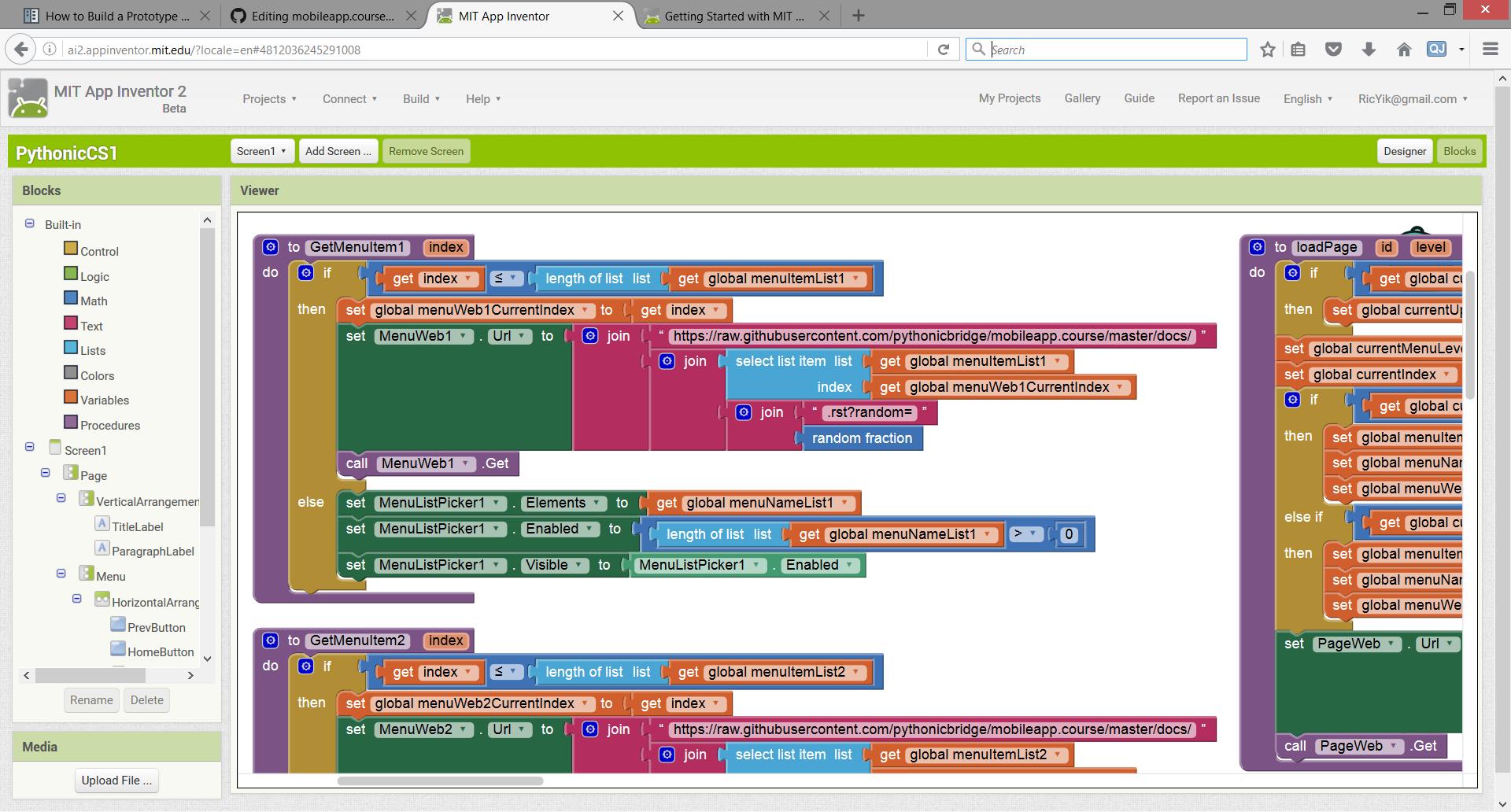 Building Logic with App Inventor Blocks View — Pythonic CS1