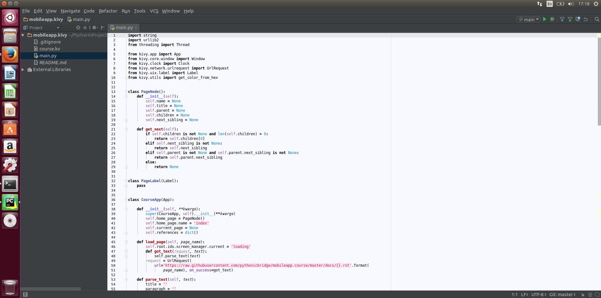 Working with Pycharm IDE, Git, and Kivy — Pythonic CS1